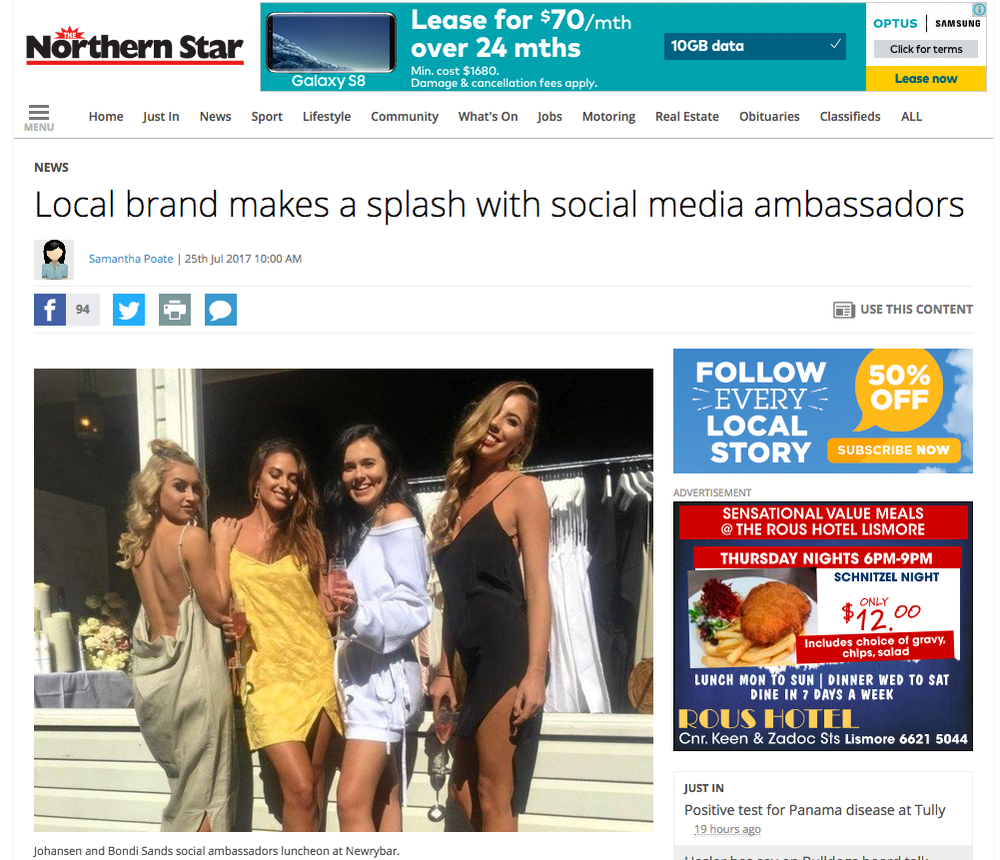 The event was featured in the Northern Star -