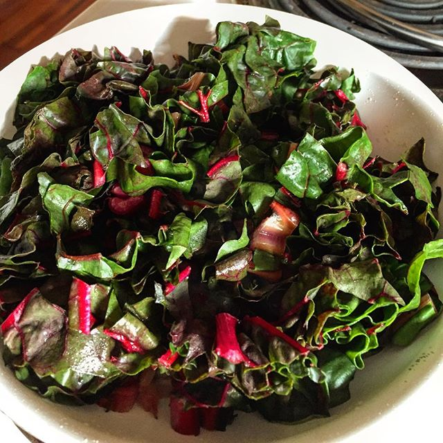 Good Morning Rainbow Chard Omelette!