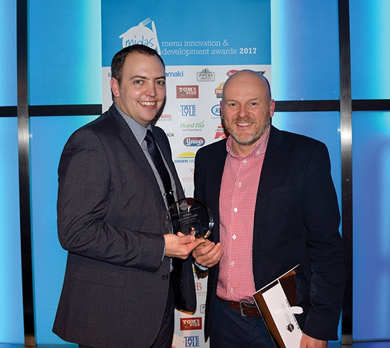 Winner Jameson Robinson for JD Wetherspoon (Collected by Oliver Addis) with Paul Chittenden (right) from KK Fine Foods