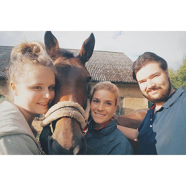 Äntligen fick vi in henne i transporten 😀🐴 med grym hjälp från @dressyrbloggen.se 😀 Nu är vi redo för äventyr! #horse #horses #hästar #equestrian #dressage #hippson #dressyr #heste #pferd #ride #man #rida #ridning #ryttare #showjumping #teamanita