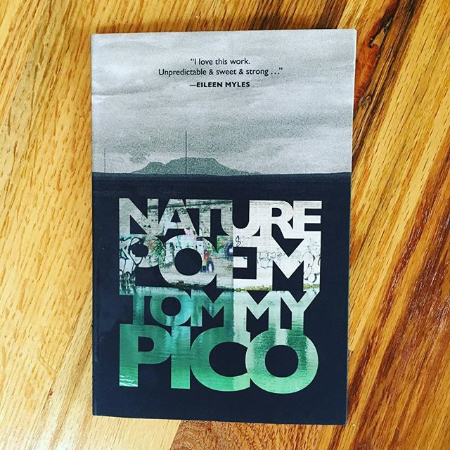 "I saw Tommy Pico host ""Poets with Attitude"" with Morgan Parker at the Ace Hotel about a month ago. He did not read that night, but I got a slice of his sharp, charismatic personality and knew I had to get my hands on his work. There's a pull quote from Eileen Myles on the cover of ""Nature Poem"" which is a pretty damn clear sign that you're in for something special. Tommy, or ""Teebs"" is a Native American young man (or ""NDN"" as he refers to himself) from the Kumeyaay nation, who cannot bring himself to write a poem about nature. Through funny, sexy, self-aware ""text speak"" Tommy uses this thread of connected poems to confront historical, colonial, white-assimilationist ideas that connect Indian people with Nature. There are too many one-liners to quote. This book kinda feels like a late night online convo with your smartest, most poetic friend."