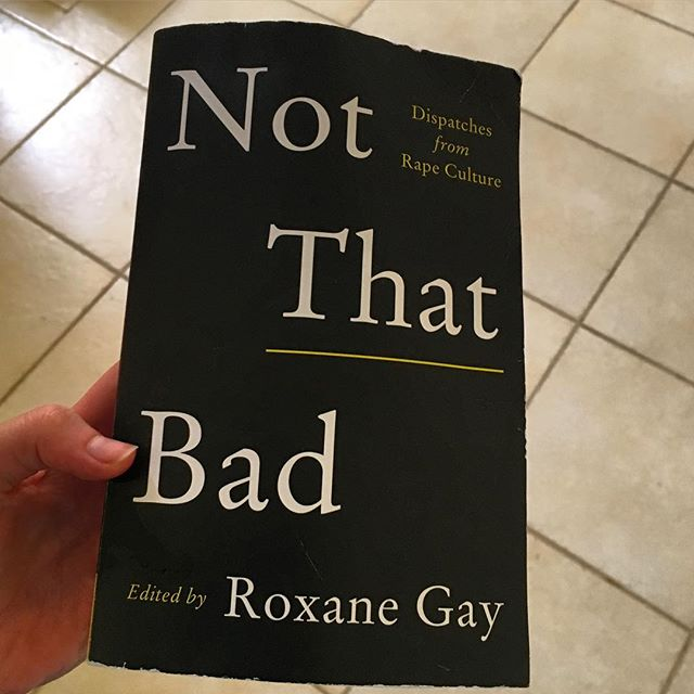 "Welcome to the Kenya edition of #qtrainbookclub! I am currently working with rape survivors at the Gender Based Violence Recovery Clinic within the Coast Provincial General Hospital, so this felt like an appropriate read. After I read and loved Roxane Gay's popular collection of essays ""Bad Feminist"" I followed her on twitter and enjoyed her commentary on all things cultural, political, racial, intersectional, etc. ""Not That Bad"" is a collection of essays, curated and edited by Roxane, with contributions by a wide variety of writers who identify as female. I recommend this book for those who are comfortable discussing sexual trauma as well as those less so. Some essays are honest and challenging to read while others are more light and hopeful. Roxane arranged the pieces in a way that does not dilute the subject matter, but makes the reader feel empowered to discuss and take a more active role in eliminating rape culture. My favorite piece was the very last one, written by Elissa Bassist. The piece had a poetic tone and read like an epilogue — one last reflective narrative to unify and encourage survivors to help one another, and move forward with as little fear as possible."