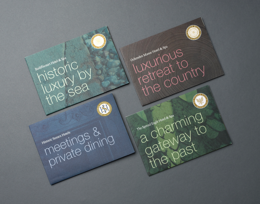 Standout's super cool brochure solution for Historic Sussex Hotels, versatile (easy to update), flexible and highly cost effective.