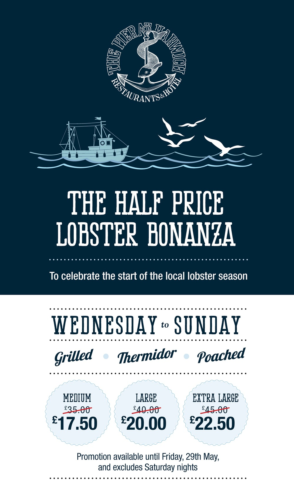 Lobster Bonanza campaign delivers TWICE as many guests in 2015 for Milsom Hotels!