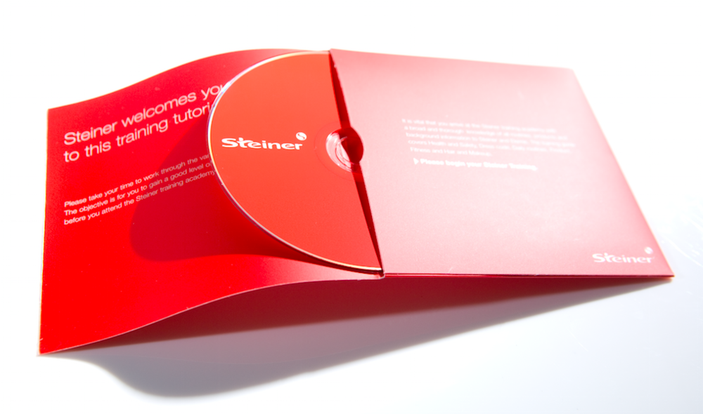 Interactive training DVD with (Standout created) flash based training tool. Branded packaging and instructional leaflet completed a highly effective approach to distance learning for globally located skincare therapists and beauticians.