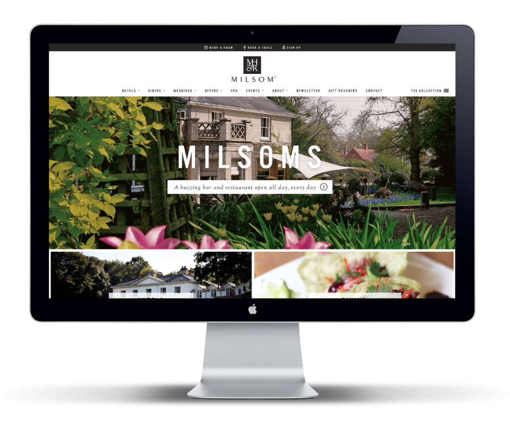 Award winning website for the Milsom Hotels & Restaurants Group. We're proud to have delivered this multi-locational website with integrated online booking, book-a-table, voucher purchasing, loyalty card purchasing, html 'real-time' menus, social wall and much more. Visit the website to find out more.