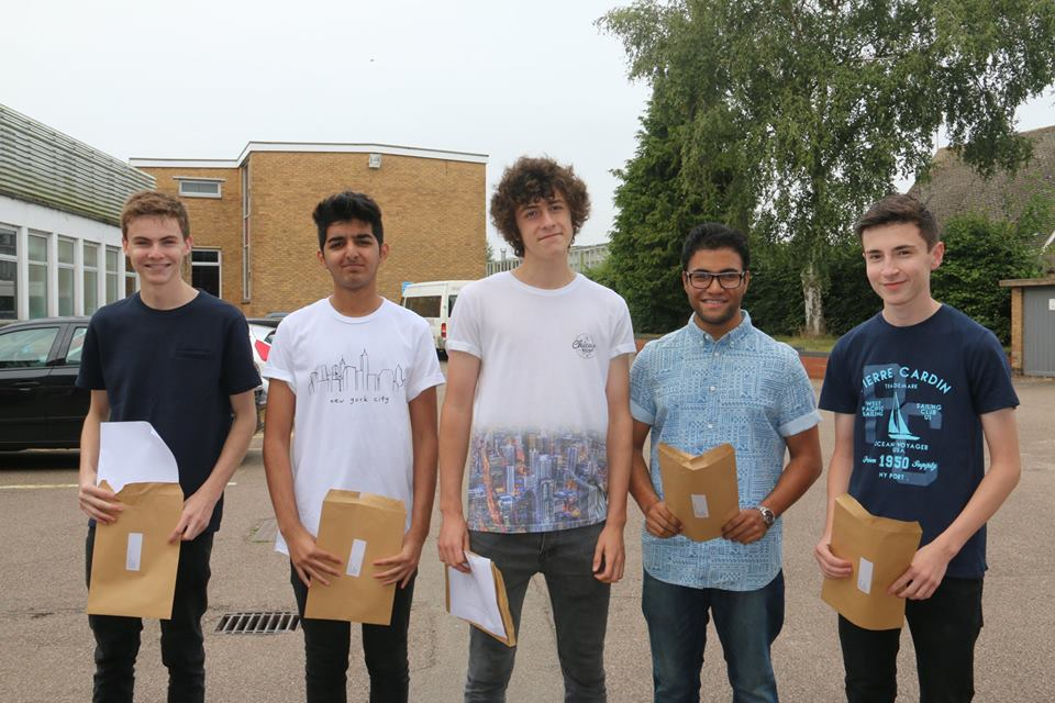 The Year 12 boys celebrate their excellent achievements.