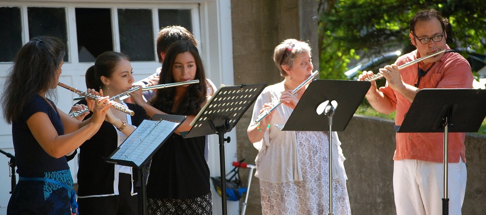The Elm City Music Flute Ensemble Performing at the 2014 Summer Concert & BBQ.