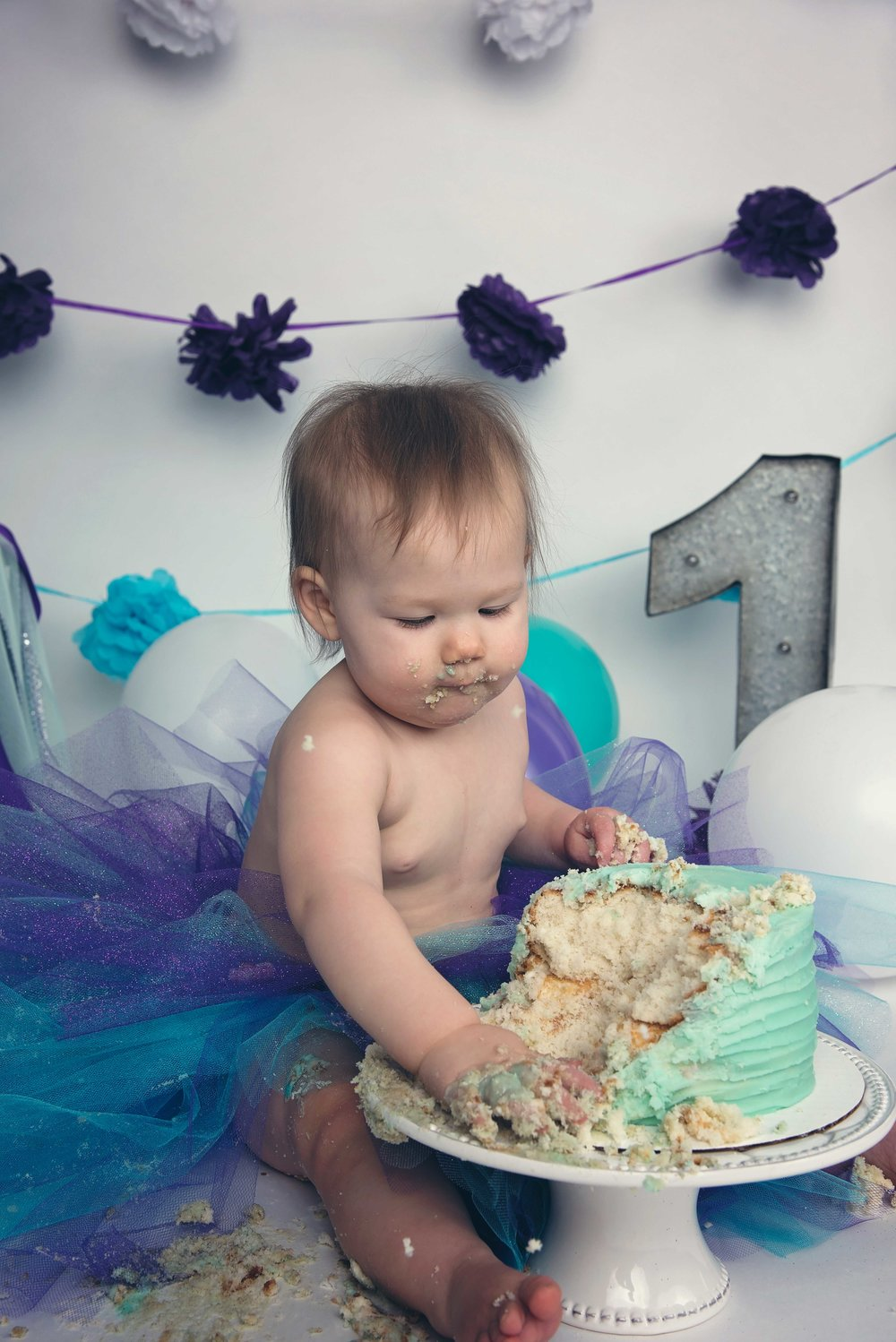 Maineville cake smash photography session