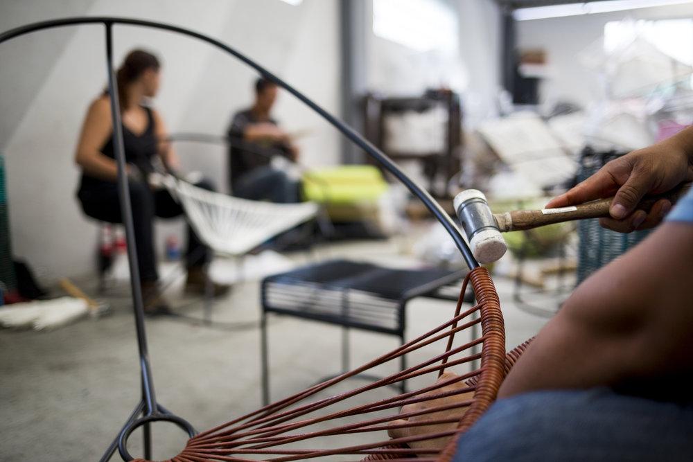 Leder Acapulco Chair Handarbeit