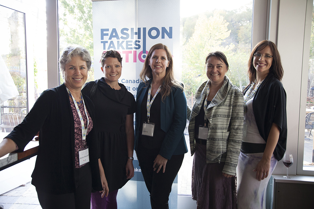 WEAR 2015: Networking Cocktail Reception - Sandra Marquadt of GOTS, Kelly Drennan of Fashion Takes Action, Kate Black of Magnifeco, Shannon Brown of Fair Trade Canada and Adria Vasil of Ecoholic