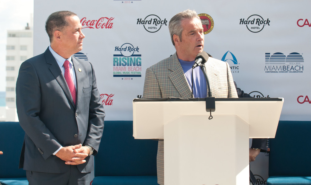 Mayor Philip Levine and Hard Rock Chairman Tim Allen