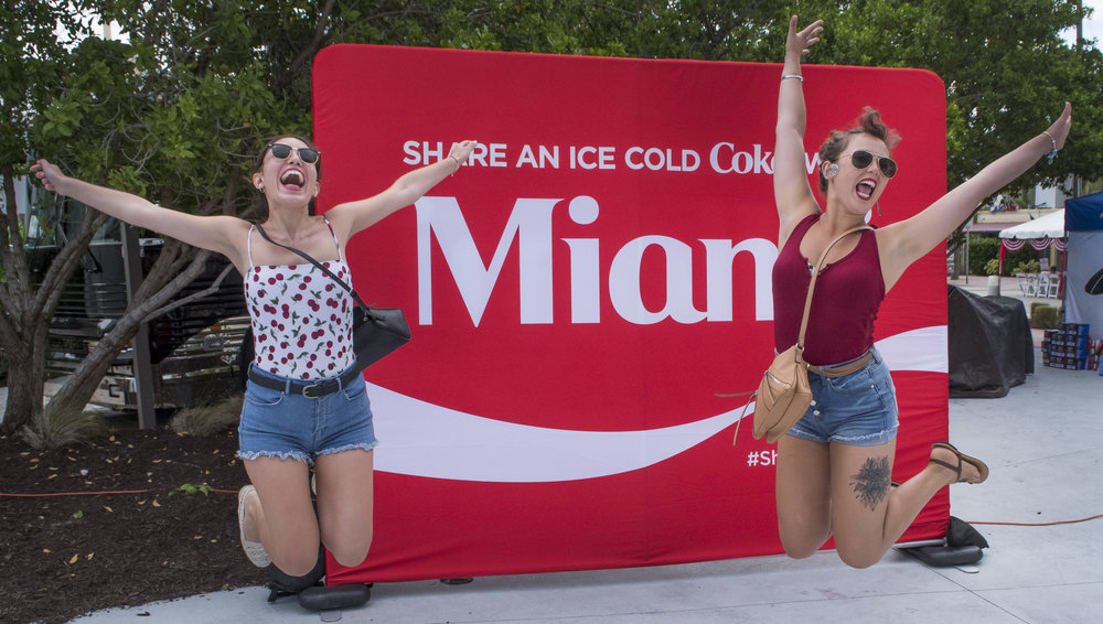 Coca-Cola girls Fire on the Fourth 2017