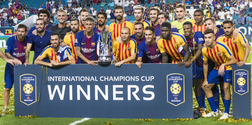 barcelona winners of el clasico miami hard rock stadium icc cup international champions cup