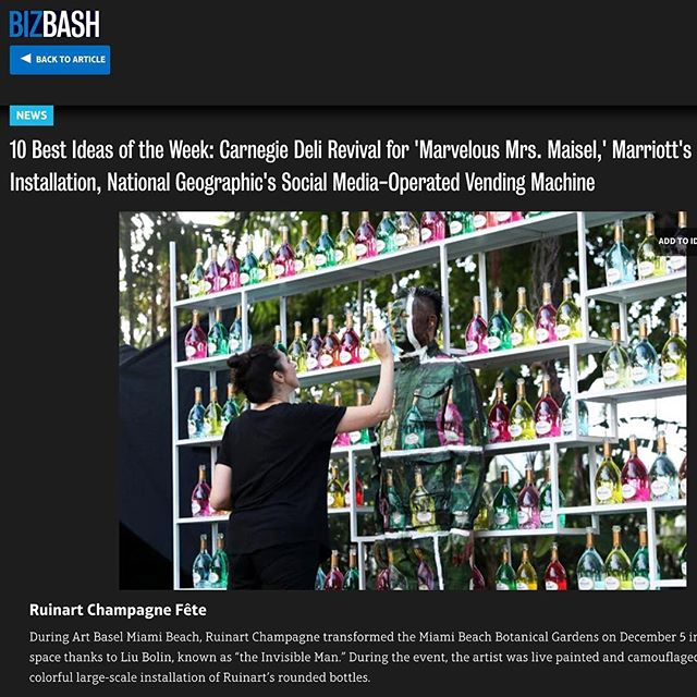 Hard work pays off!! 💪🏻 . . .  @ruinart 's event during #artbasel last week at the Miami Beach Botanical Gardens was featured in @bizbash !!! ACT Productions is proud to have helped and been a part of this picturesque event! . .  #10bestideasoftheweek #eventlife #productionlife #actproductions #miamibeach #artbasel #workhardplayharder #hardworkpaysoff #teamwork #theinvisibleman