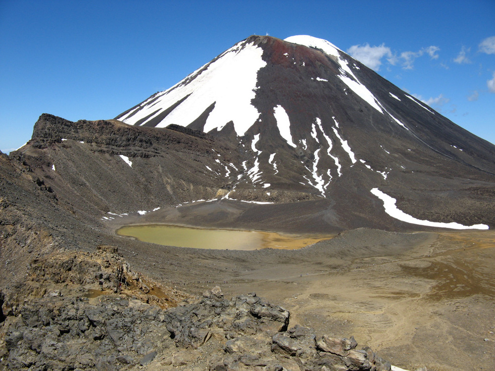 Ngauruhoe, aka mount doom, seen up close from tongariro crossing