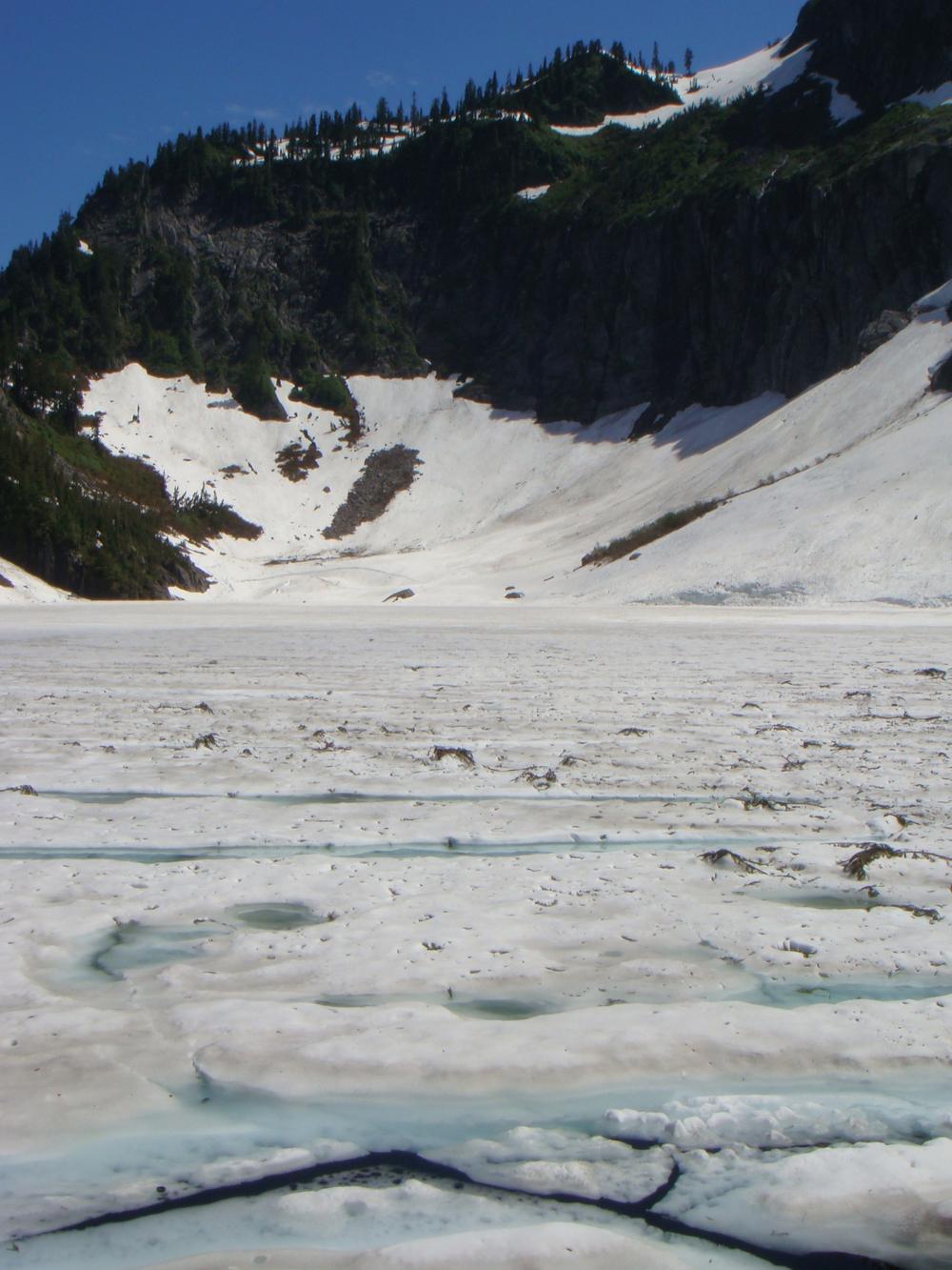 Even snowier Lake Serene in 2008
