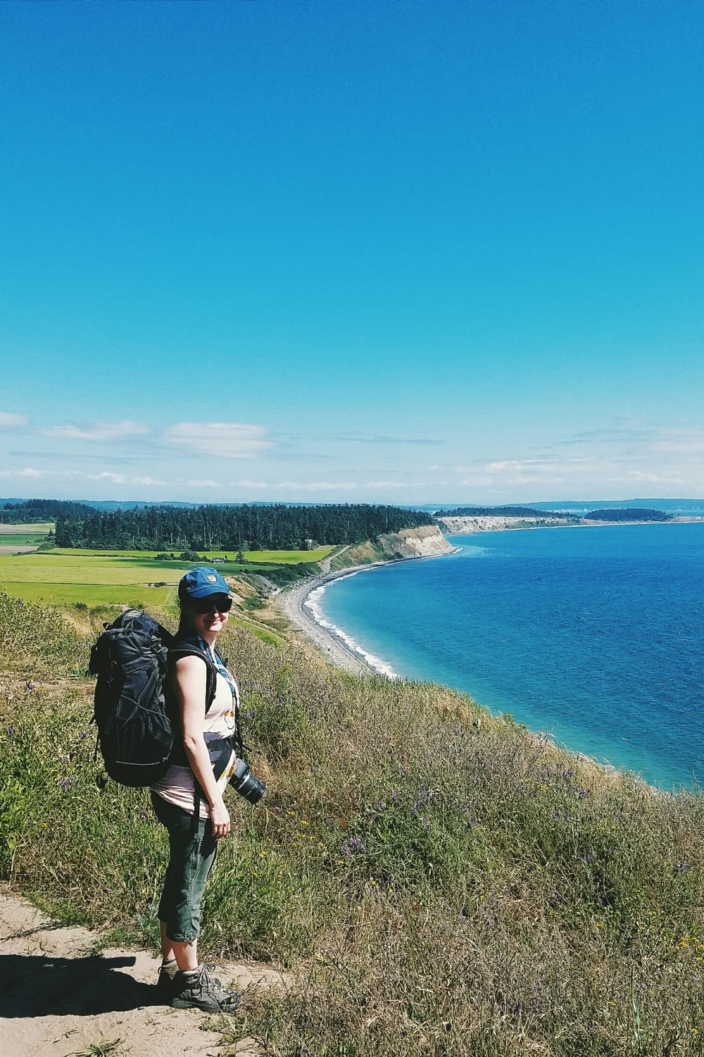 One last hike with my custom made ultralight backpack. Carrying anything over 15 lbs in this is REALLY uncomfortable.