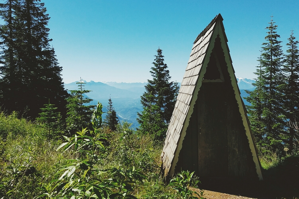 Washington Trails Association is right - this is the cutest trailhead bathroom I've ever seen!