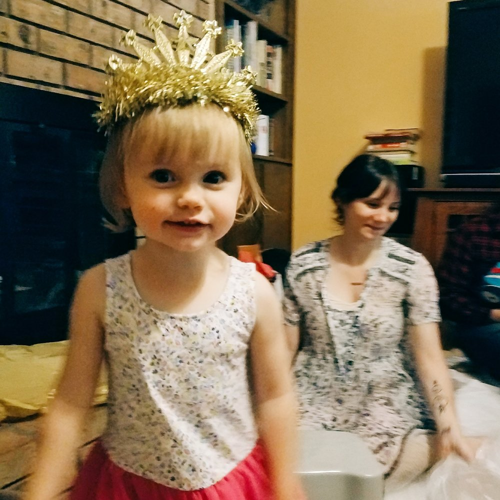 The great photography challenge: taking a photo of a two year old on her birthday in low light