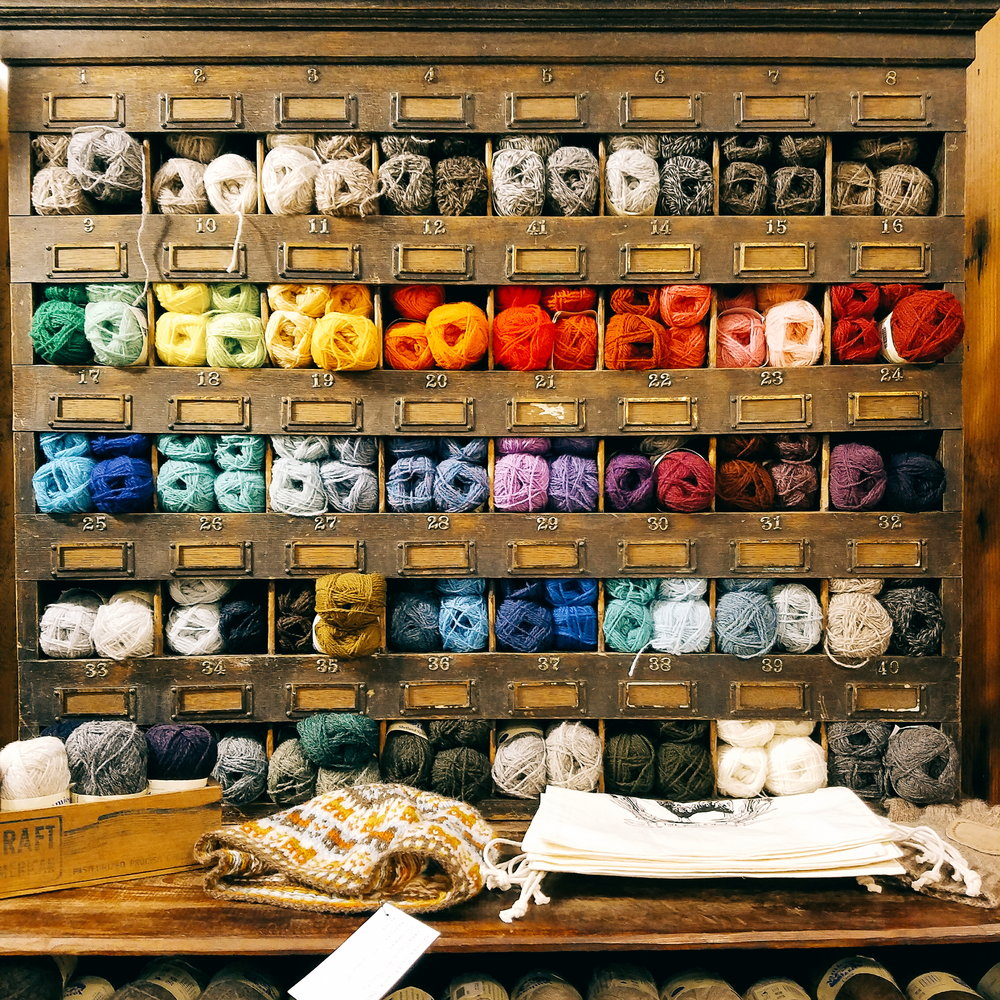 The always photogenic Tolt Yarn & Wool - my favorite yarn shop!