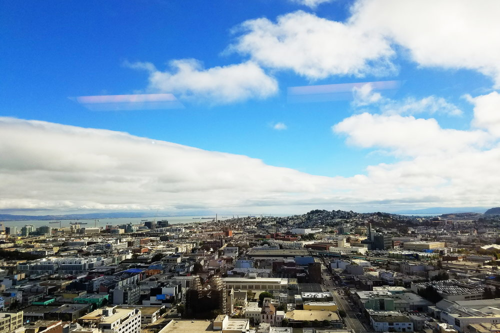 22nd floor conference room views of San Francisco. I wouldn't mind this more often!