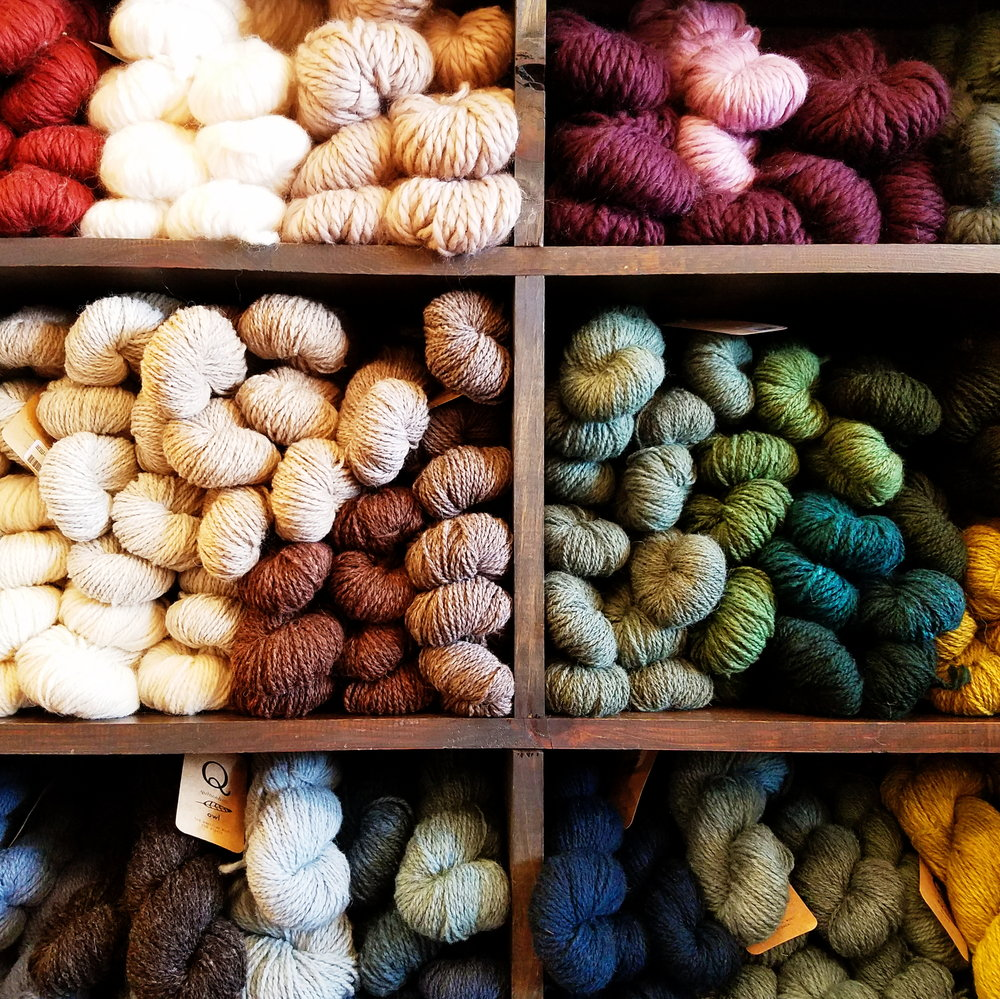 On rainy spring days a trip to the yarn store...