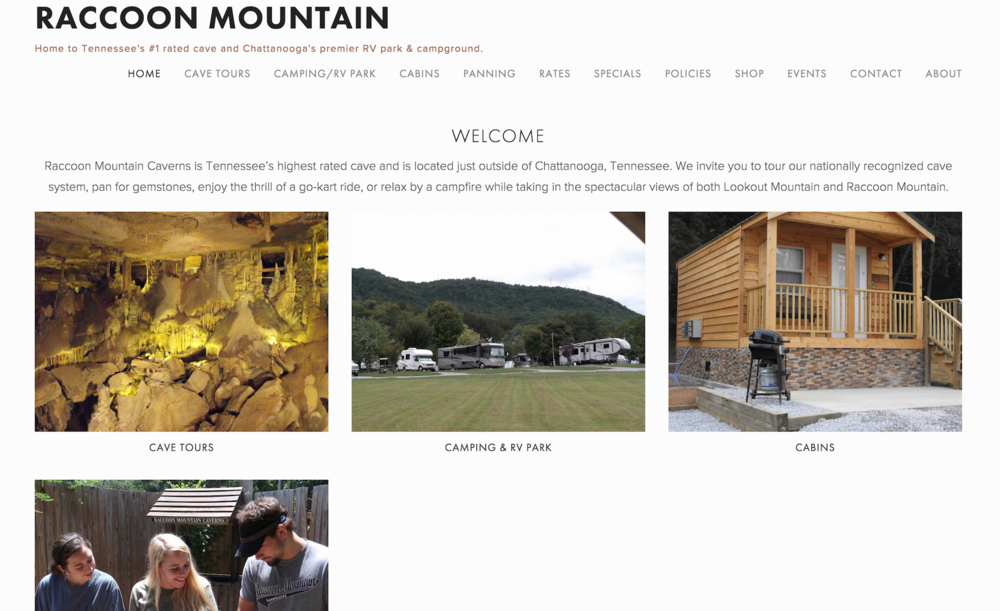 Raccoon Mountain Website Overhaul