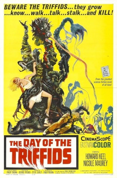 "Join Curator of Entomology Dr. Michael Wall and Audience Engagement Manager Robert Rutherford for a screening of the 1960s B-movie ""Day of the Triffids"" in their giant screen theater. Can earth survive the slow-moving onslaught of flesh-eating plants? Their resident pop-culture fanatics will help you find the answer with science! Free with museum admission or $16.    There will also be simultaneous science & pop culture trivia appearing on an adjacent screen with a little ""science behind the fiction"" Q&A afterward.    Friday September 2 @ 6:00pm at the San Diego Natural History Museum!    B  alboa Park After Dark   D  ay of the Triffids trailer (1962)"