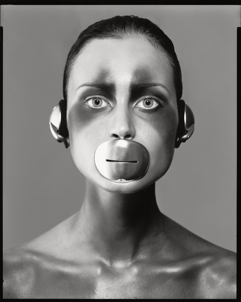 Natalia Semanova, Mouthpiece and Headphones by Tom Binns, New York, April 30, 1998