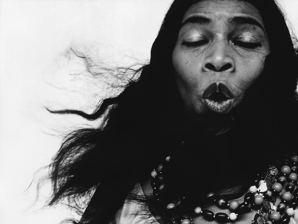 "Marian Anderson, singer, in the role of Ulrica in ""Un Ballo in Maschera,"" New York City, June 30, 1955"