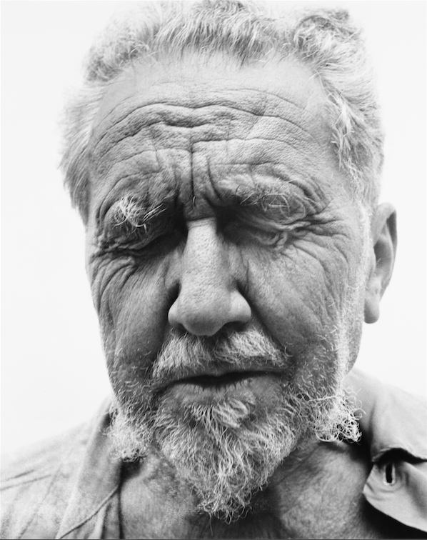 Ezra Pound, poet, at the home of William Carlos Williams, Rutherford, New Jersey, June 30, 195894.151,