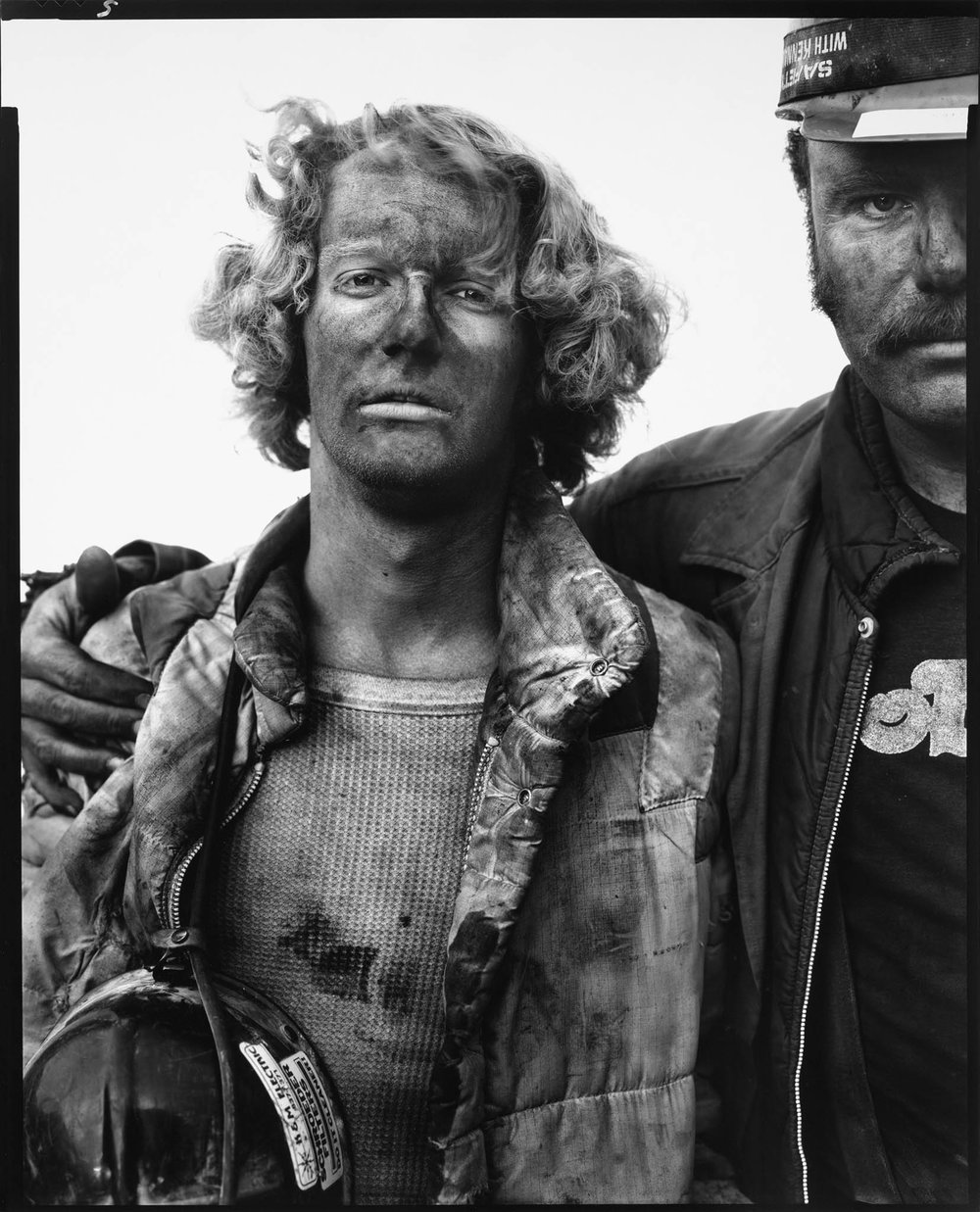Mike Bencich, Dan Ashberger, coal miners, Somerset, Colorado, August 29, 1980