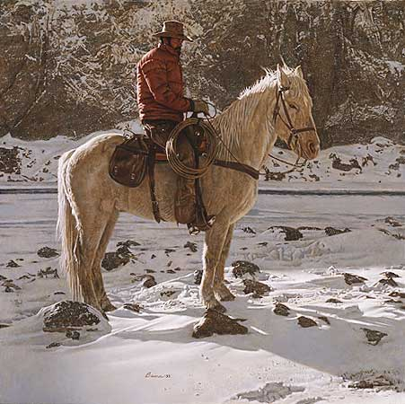 "James Bama - ""On the North Fork of the Shoshoni"""