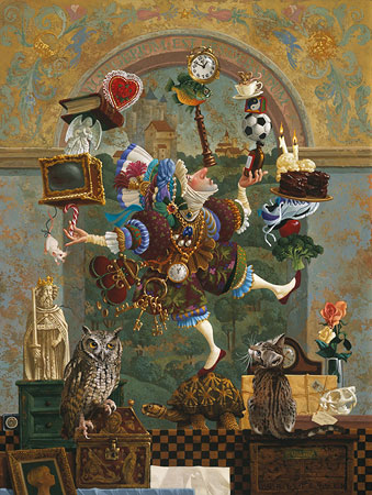 "James Christensen - ""Balancing Act"""