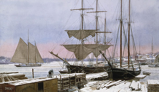 "Victor Mays - ""Lumber Docks Bangor, ME"""
