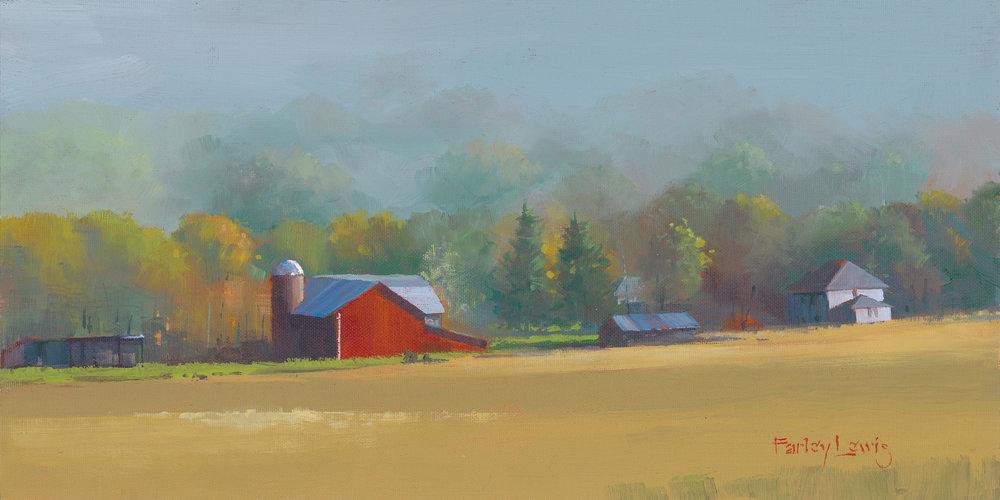 """Vermont Farm"" - 8"" x 16"" - Acrylic on Board - $485"