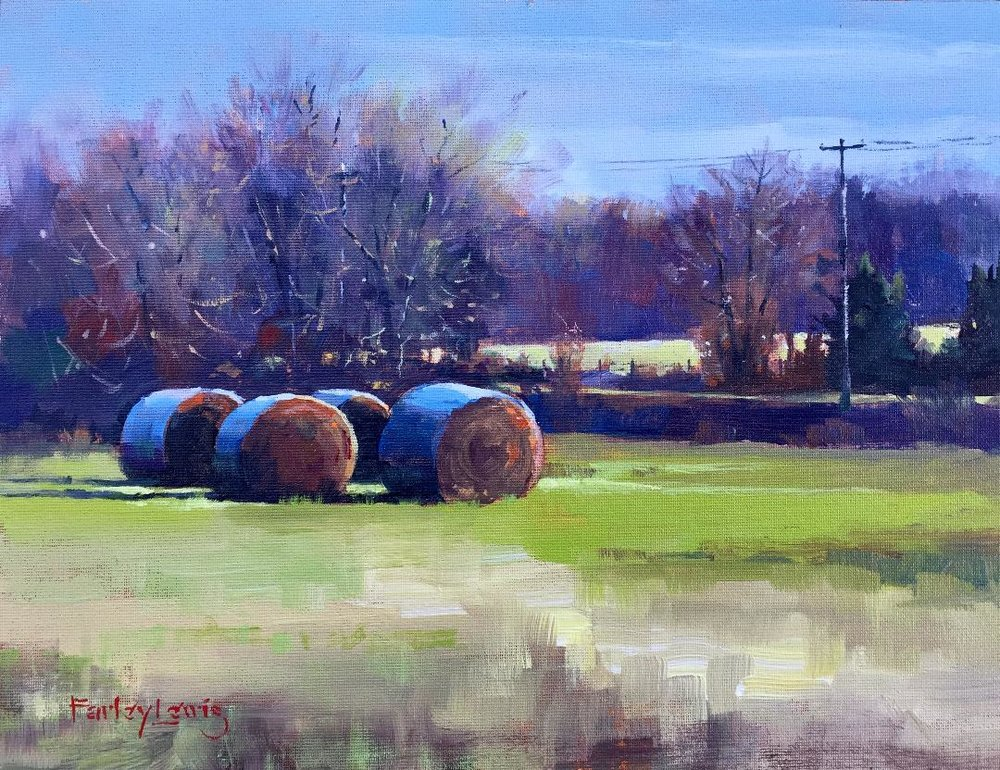 """""""Signs of Spring"""" - 9"""" x 12'"""" - Acrylic on Board - Contact Gallery for Price"""