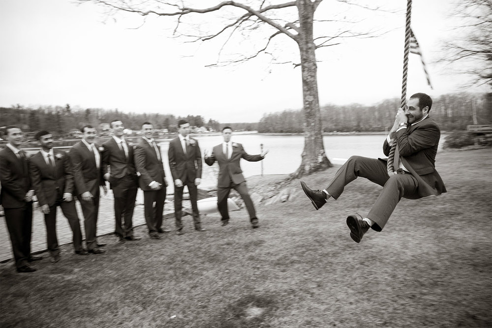 groom on a rope swing|jp langlands photography