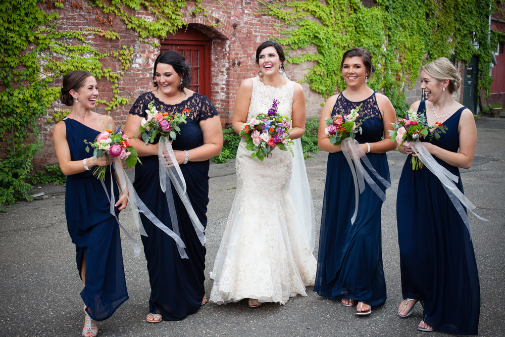 bridesmaids mill 1 at open square wedding jp langlands photography