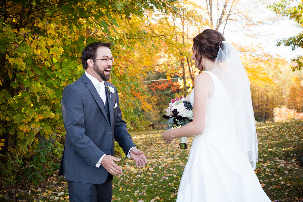 first look monadnock berries wedding troy nh jp langlands photography