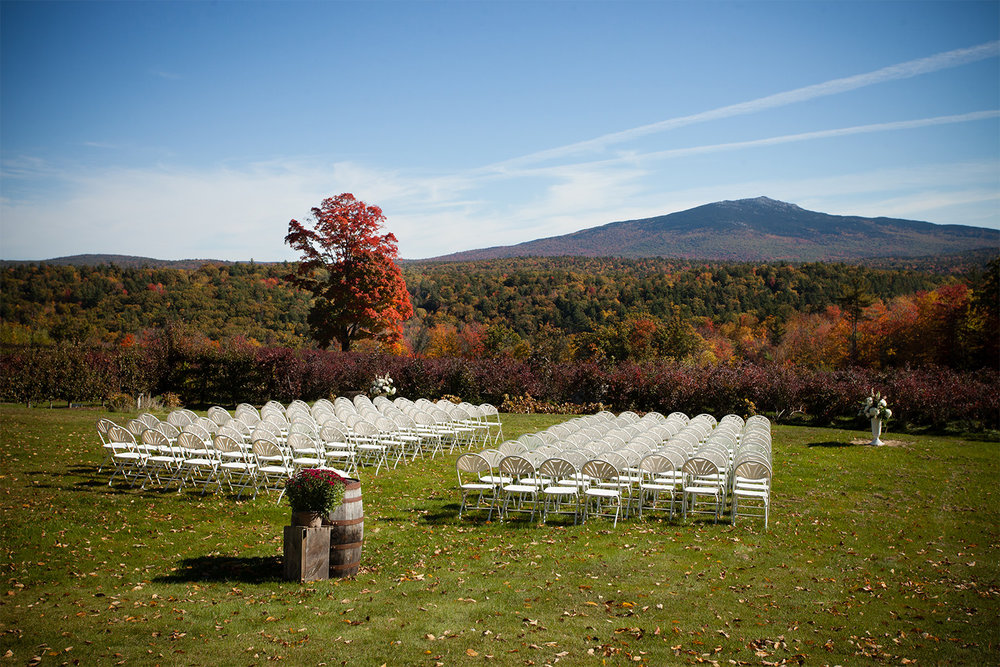Fall wedding at Monadnock Berries in Troy New Hampshire
