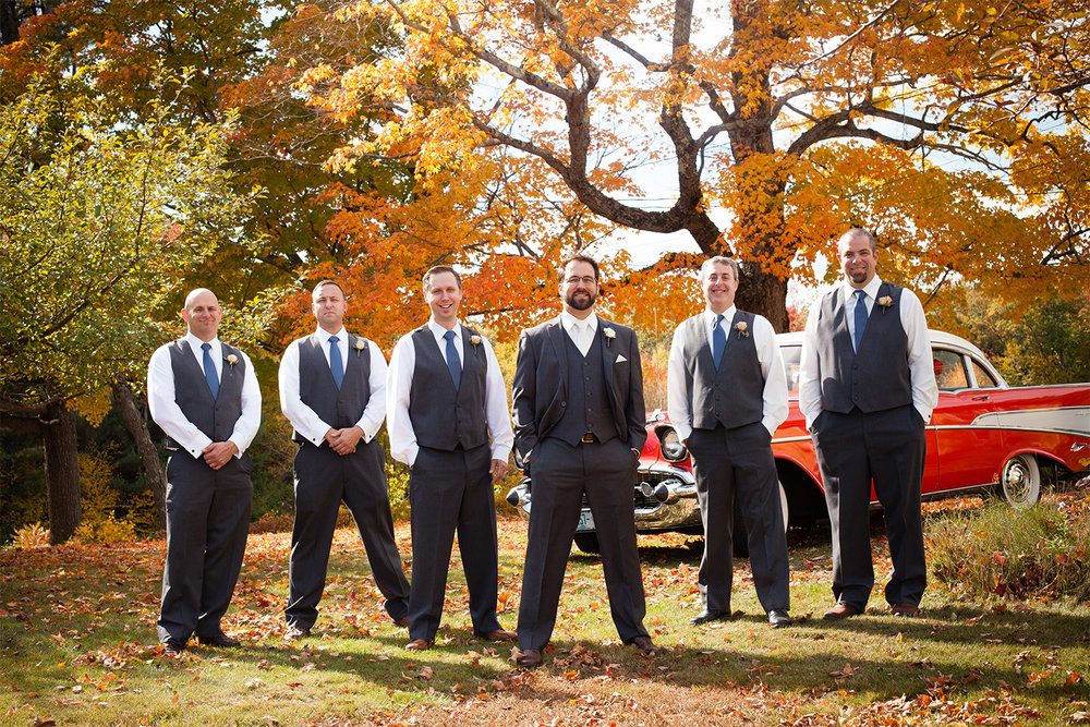 groomsmen portrait at monadnock berries troy new hampshire jp langlands photography