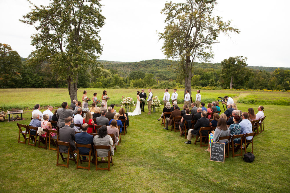 ceremony at inn at mount pleasant wedding