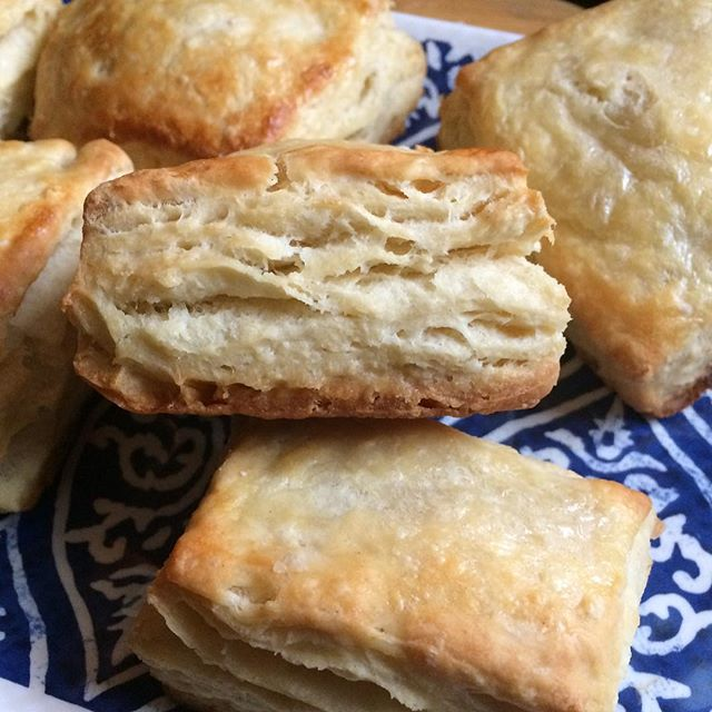 Stella and I first attempt Buttermilk Biscuits.We achieved some flaky buttery layers! #biscuits