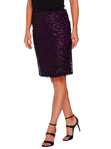72912c275d Bob Mackie's Pull-On Pencil Skirt