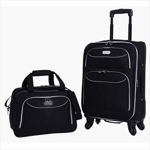 7161dbb8d Bob Mackie Four Wheeler 2 Piece Luggage Set