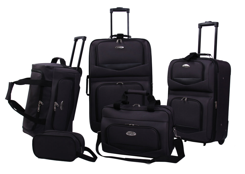 173ed5cbe Bob Mackie Expandable 5-Piece Luggage Set - Black — Bob Mackie