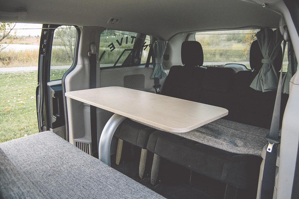 Table Set Up in the OG Campervan