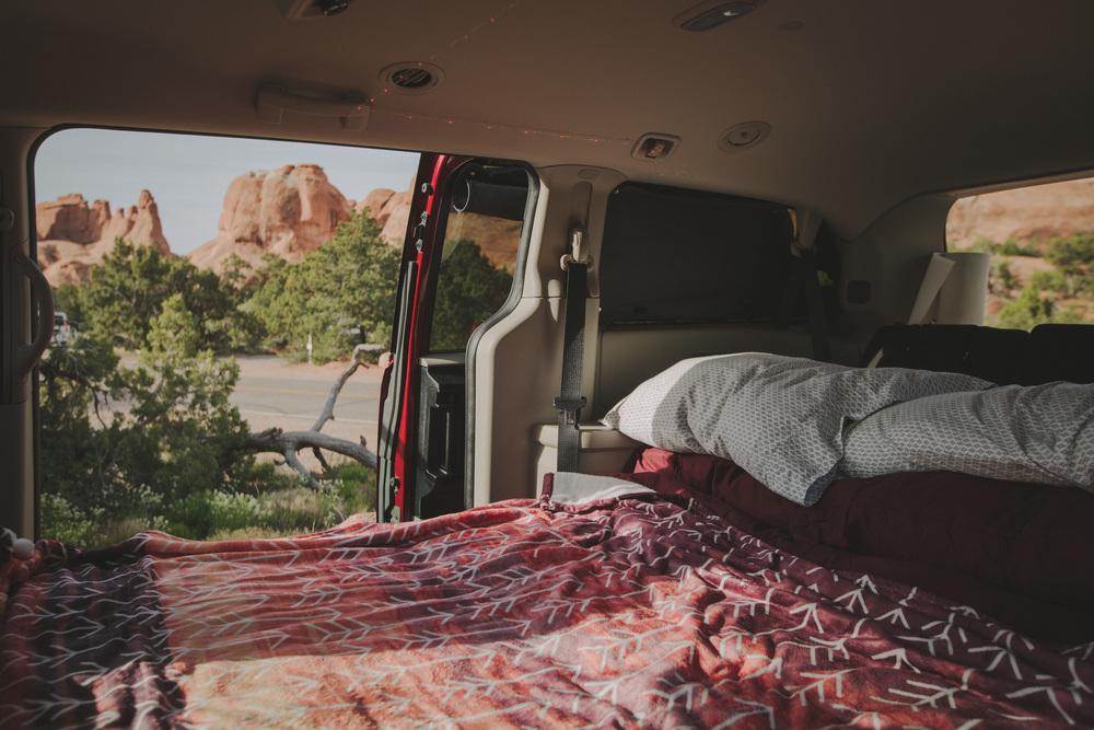 Bed in the OG Campervan